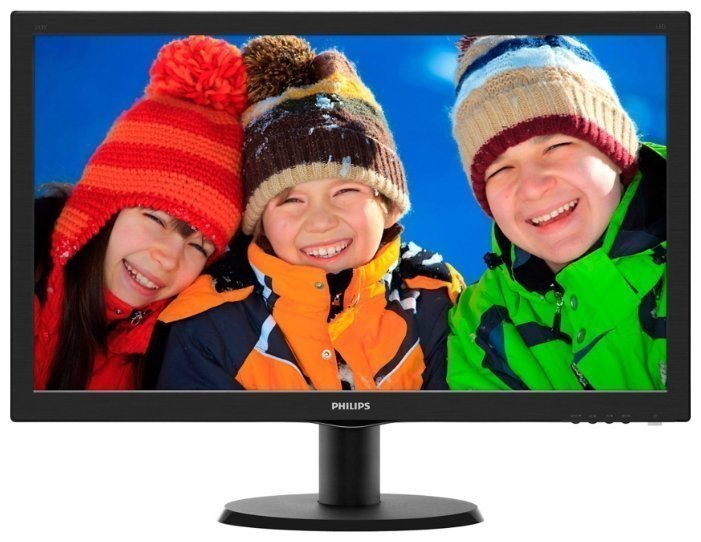 "Монитор 23.6"" PHILIPS 243V5QSBA/00(01) Black (MVA, LED, 1920x1080, 8 ms, 178°/178°, 250 cd/m, 10M:1,"