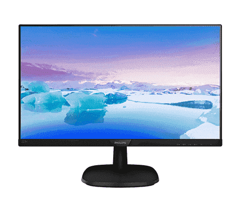 "Монитор 21.5"" PHILIPS 223V7QHAB/00 Black (1920x1080, 5 ms, 170°/160°, 250 cd/m, 10M:1, +HDMI)"