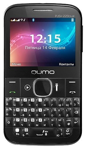 Телефон GSM QUMO Push 220 QWERTY black+gray